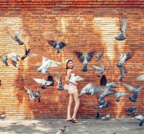 Η νέα μόδα που έχει γίνει viral στην Ταϊλάνδη: Τρομάζουν περιστέρια για να φτιάξουν την τέλεια λήψη στο Instagram - Φώτο & Βίντεο  - Κυρίως Φωτογραφία - Gallery - Video