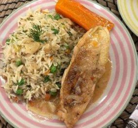Αργυρώ Μπαρπαρίγου: Κοτόπουλο λεμονάτο κατσαρόλας με ρύζι - Με θεϊκή λεμονάτη σάλτσα και κρεμώδη υφή - Κυρίως Φωτογραφία - Gallery - Video