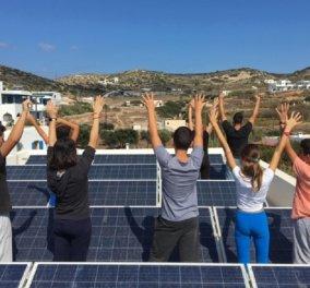H «Ενέργεια για Ζωή Tαξιδεύει»:  Εγκατάσταση φωτοβολταϊκού συστήματος  παραγωγής ηλεκτρικής ενέργειας στο Γυμνάσιο Δονούσας - Κυρίως Φωτογραφία - Gallery - Video