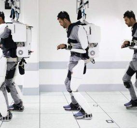 Παράλυτος άνδρας περπατά ξανά με τη βοήθεια ρομποτικού εξωσκελετού - Τον κινεί με τη σκέψη του (βίντεο) - Κυρίως Φωτογραφία - Gallery - Video