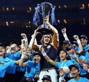 Βασιλιάς του τένις ο Τσιτσιπάς: Η συγκίνηση - οι πανηγυρισμοί & οι σημαντικότερες στιγμές του ματς (φώτο-βίντεο) - Κυρίως Φωτογραφία - Gallery - Video