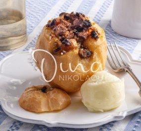 Η εκπληκτική Ντίνα Νικολάου σε ένα γλύκισμα - όνειρο: Κυδώνια γεμιστά με μπισκότα, αποξεραμένα φρούτα & καρπούς   - Κυρίως Φωτογραφία - Gallery - Video