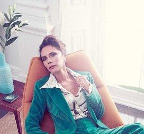 Ποια γυναίκα θα μπορούσε να συνδυάσει πράσινο βελούδο κουστούμι με γαλάζιες γόβες; - Μόνο η Μπέκαμ μπορεί (φώτο) - Κυρίως Φωτογραφία - Gallery - Video