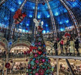 Βιτρίνες & φαντασμαγορικά στολισμένα δένδρα για Χριστούγεννα στο Παρίσι - Πως υποδέχονται τις γιορτές τα μεγάλα καταστήματα - Κυρίως Φωτογραφία - Gallery - Video