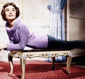Vintage Pics: Όταν η Όντρεϊ Χέπμπορν η μυθική σταρ του Χόλιγουντ έπλεκε στα διαλείμματα των γυρισμάτων των ταινιών της  - Κυρίως Φωτογραφία - Gallery - Video