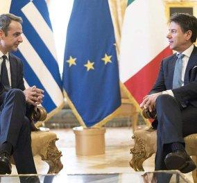 Συνάντηση Μητσοτάκη - Κόντε: Ελληνοϊταλική συμφωνία για την ενέργεια (φώτο-βίντεο) - Κυρίως Φωτογραφία - Gallery - Video