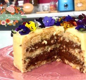 Η Ντίνα Νικολάου μας δείχνει πως να φτιάξουμε απίθανη τούρτα παντεσπάνι με μους σοκολάτας  - Κυρίως Φωτογραφία - Gallery - Video