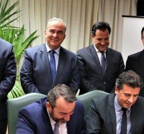 Με υπογραφή Γεωργιάδη η συμφωνία για την ελληνική βιομηχανία ζάχαρης: Πειραιώς - Συνεταιριστική Κ. Μακεδονίας & Royal Sugar μαζί  - Κυρίως Φωτογραφία - Gallery - Video
