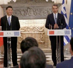 """Κυρ. Μητσοτάκης: """"Ο δρόμος που άνοιξε με την Κίνα θα γίνει λεωφόρος"""" - Οι  16 συμφωνίες που υπεγράφησαν κατά την επίσκεψη του Κινέζου Προέδρου (βίντεο) - Κυρίως Φωτογραφία - Gallery - Video"""