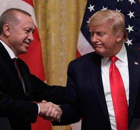 """""""Κεκλεισμένων των θυρών"""" συνάντηση του Ντόναλντ Τραμπ με τον Ερντογάν στο ΝΑΤΟ - Φώτο - Κυρίως Φωτογραφία - Gallery - Video"""
