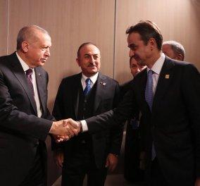 Ολοκληρώθηκε μετά από 1,5 ώρα το κρίσιμο τετ α τετ Μητσοτάκη Ερντογάν - Οι δύο ηγέτες αποχώρησαν χωρίς δηλώσεις (φώτο-βίντεο) - Κυρίως Φωτογραφία - Gallery - Video