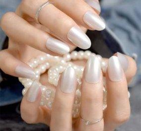 Περλέ νύχια: 24 εντυπωσιακές ιδέες για το πιο λαμπερό μανικιούρ - Φώτο - Κυρίως Φωτογραφία - Gallery - Video