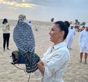 H Εύα Λονγκόρια, ο γιός της και ο αετός... ξανά στο Ντουμπάι - Φώτο - Κυρίως Φωτογραφία - Gallery - Video