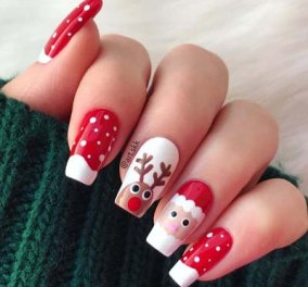Γιορτινά νύχια: 40+ χριστουγεννιάτικες προτάσεις για σχέδια με Αη Βασίληδες, αστεράκια ή φιόγκους- Φώτο - Κυρίως Φωτογραφία - Gallery - Video