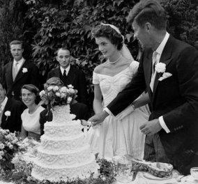 Vintage pics από τον αριστοκρατικό γάμο της Jackie Kennedy με τον John Fitzgerald - Με νυφικό εποχής & πολύ ρομαντισμό - Κυρίως Φωτογραφία - Gallery - Video