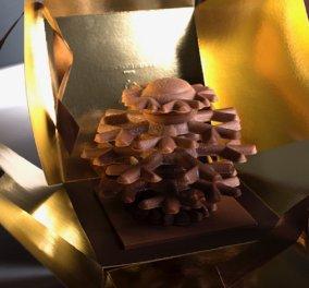 """Ο πιο """"Γάλλος"""" Έλληνας ζαχαροπλάστης - Δημήτρης Οικονομίδης ετοίμασε σοκολατένια αρχιτεκτονήματα για τα Χριστούγεννα - Απολαύστε τα! (φώτο) - Κυρίως Φωτογραφία - Gallery - Video"""