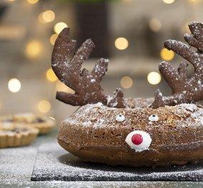 Ο Άκης Πετρετζίκης δημιουργεί: Το πιο γιορτινό και Χριστουγεννιάτικο κέικ... τάρανδος   - Κυρίως Φωτογραφία - Gallery - Video