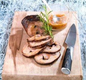 Η Αργυρώ Μπαρμπαρίγου προτείνει ένα ιδιαίτερο πιάτο: Χοιρινός λαιμός με πορτοκάλι στο φούρνο - Είναι φανταστικό!  - Κυρίως Φωτογραφία - Gallery - Video