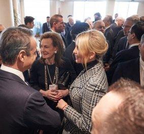 Θερμή ατμόσφαιρα στην συνάντηση του Κυρ. Μητσοτάκη με την Ιβάνκα Τραμπ - Η Μαρέβα & το Νταβός  - Κυρίως Φωτογραφία - Gallery - Video