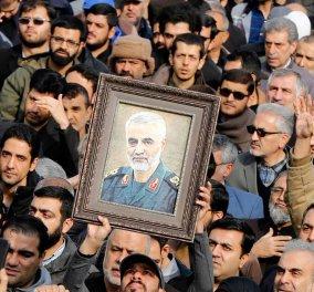 Live: Πλήθος κόσμου & τεταμένη ατμόσφαιρα στην κηδεία του Ιρανού στρατηγού Σουλεϊμανί - Οργή & θρήνος  - Κυρίως Φωτογραφία - Gallery - Video
