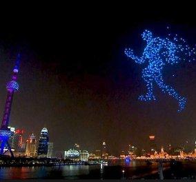 Βίντεο - Φαντασμαγορική τελετή από τη Σανγκάη: Υποδέχθηκε το 2020 με απίστευτο show από drones στον ουρανό - Κυρίως Φωτογραφία - Gallery - Video