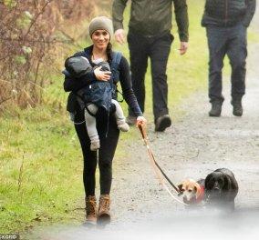 Ο πρίγκιπας Χάρι έφτασε στο Βανκούβερ! Η Μέγκαν έβγαλε βόλτα τα σκυλιά με τον Άρτσι σε μάρσιπο - Κυρίως Φωτογραφία - Gallery - Video
