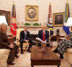"""Όλες οι φώτο & τα βίντεο από τη συνάντηση Μητσοτάκη - Τραμπ - """"Καμία ανοχή  σε παραβίαση των κυριαρχικών μας δικαιωμάτων""""   - Κυρίως Φωτογραφία - Gallery - Video"""