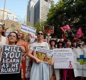 Αυστραλία: Διαδηλώσεις για την αδράνεια της κυβέρνησης απέναντι στην κλιματική αλλαγή - Ζητούν την παραίτηση του Πρωθυπουργού  - Κυρίως Φωτογραφία - Gallery - Video