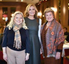 Très chic & χαμογελαστή η Μαρέβα Μητσοτάκη στο γεύμα με τις κυρίες  Αναστασιάδη & Νετανιάχου (φώτο) - Κυρίως Φωτογραφία - Gallery - Video