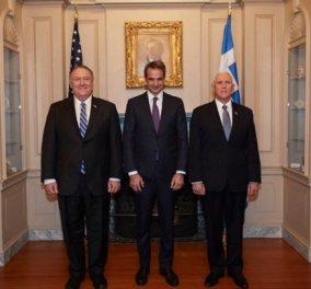 Ενθαρρυντικά λόγια Πενς και Πομπέο σε Ελλάδα και Κυρ. Μητσοτάκη: Οι ΗΠΑ στηρίζουν τον ηγετικό ρόλο, την ασφάλεια και την ευημερία της Ελλάδας   - Κυρίως Φωτογραφία - Gallery - Video