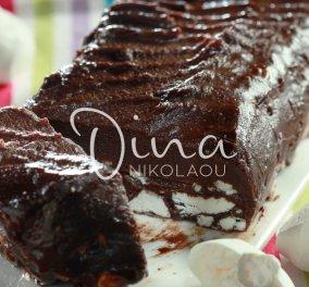 Υπέροχος σοκολατένιος κορμός με μπεζέδες από τη Ντίνα Νικολάου - Κυρίως Φωτογραφία - Gallery - Video