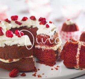 Το απόλυτο γλυκό των ερωτευμένων: Red Velvet Cake από τη Ντίνα Νικολάου - Κυρίως Φωτογραφία - Gallery - Video