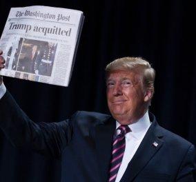 Μια εικόνα χίλιες λέξεις: Κραδαίνει την Washington Post με την αθώωσή του ο Ντόναλντ Τραμπ (βίντεο) - Κυρίως Φωτογραφία - Gallery - Video