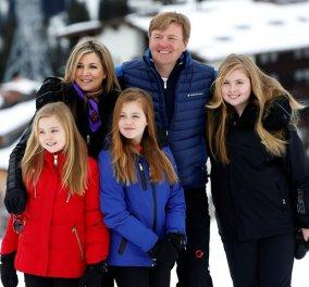Όλη η βασιλική οικογένεια της Ολλανδίας στα χιόνια - Και η γιαγιά με τα εγγόνια μαζί (φωτο βίντεο) - Κυρίως Φωτογραφία - Gallery - Video