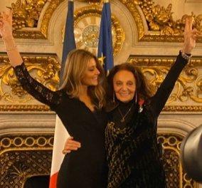 Ποιες ελληνίδες ήταν παρούσες στην παρασημοφόρηση της Νταϊάν Φύρστενμπεργκ από την Κριστίν Λαγκάρντ; Η επίσημη τελετή στο Quai d'Orsay (Φωτό) - Κυρίως Φωτογραφία - Gallery - Video