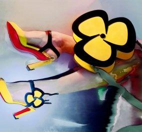 Τα νέα σχέδια του Christian Louboutin είναι απλά υπέροχα: Vintage πέδιλα, με λουλούδια σε απίστευτα χρώματα (φωτό) - Κυρίως Φωτογραφία - Gallery - Video