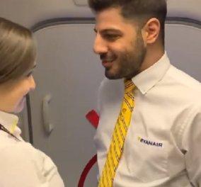 Κορωνοϊός: Ξεκαρδιστικό βιντεάκι με ένα ερωτευμένο ζευγάρι αεροσυνοδών- Στην καμπίνα του αεροπλάνου γίνεται της... απολύμανσης - Κυρίως Φωτογραφία - Gallery - Video