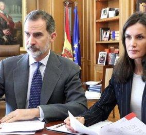 Βασιλιάς & βασίλισσα Ισπανίας: Ο Φελίπε και η Λετίσια σε video call με εκπροσώπους επιχειρήσεων & φιλανθρωπικών οργανώσεων- Στηρίζουν τον δοκιμαζόμενο λαό τους (φωτό) - Κυρίως Φωτογραφία - Gallery - Video