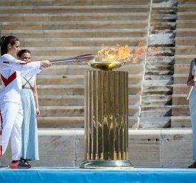 Παραδόθηκε η Ολυμπιακή Φλόγα στην ΟΕ του «Τόκιο 2020» - Κεκλεισμένων των θυρών η τελετή παράδοσης στο Παναθηναϊκό στάδιο (φωτό) - Κυρίως Φωτογραφία - Gallery - Video