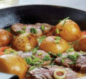 H Αργυρώ Μπαρμπαρίγου μας φτιάχνει γρήγορο & πολύ εύκολο ψαρονέφρι στο τηγάνι με πατάτες & υπέροχη σάλτσα  - Κυρίως Φωτογραφία - Gallery - Video