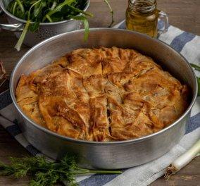 Η Αργυρώ Μπαρμπαρίγου μάς προτείνει την καλύτερη συνταγή για νηστίσιμη χορτόπιτα - Κυρίως Φωτογραφία - Gallery - Video