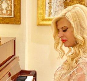 Mαρίνα Πατούλη - Grande dame στο χρυσό πιάνο με δαντέλλα & άψογο χρονισμό (Φωτό)  - Κυρίως Φωτογραφία - Gallery - Video