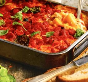 Η Αργυρώ Μπαρμπαρίγου μας ετοιάζει πεντανόστιμα Ιταλικά λαζάνια με πολέντα στο φούρνο - Κυρίως Φωτογραφία - Gallery - Video