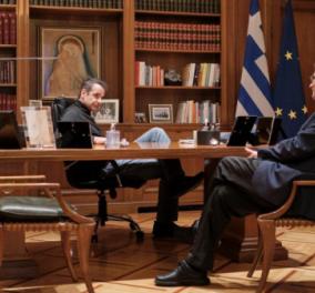 Ο Κυριάκος με τον Σωτήρη:  Ο πρωθυπουργός μόλις συνάντησε τον άνθρωπο που ακούει όλη η Ελλάδα κάθε απόγευμα στις 6  - Κυρίως Φωτογραφία - Gallery - Video