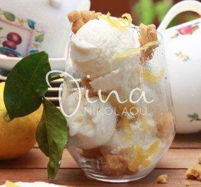 Μοναδικό παγωτό γιαούρτι με μέλι & λεμόνι από την Ντίνα Νικολάου - Κυρίως Φωτογραφία - Gallery - Video