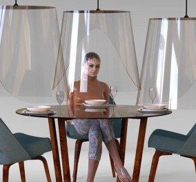 Πλεξιγκλάς ασπίδες για τα εστιατόρια: Η νέα ιδέα για να τρώμε με ασφάλεια (φωτό) - Κυρίως Φωτογραφία - Gallery - Video