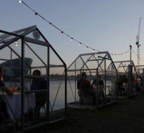 Εστιατόριο στην Ολλανδία προετοιμάζει ρομαντικά δείπνα μέσα σε γυάλινα κουβούκλια – Τετ α τετ μετά το lockdown   - Κυρίως Φωτογραφία - Gallery - Video