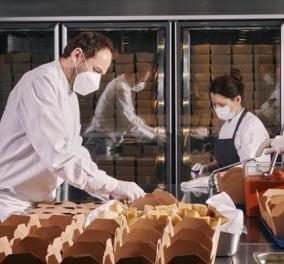 Πολυτελέστατο εστιατόριο με 3 αστέρια Michelin μετατράπηκε σε φιλανθρωπική κουζίνα – Εκατοντάδες πακέτα με φαγητό για φτωχούς (φωτό) - Κυρίως Φωτογραφία - Gallery - Video