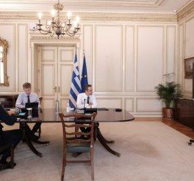 Κυρ. Μητσοτάκης στην τηλεδιάσκεψη: Εφικτό το άνοιγμα της εστίασης από 1η Ιουνίου - περισσότερα τραπέζια έξω από τα μαγαζιά  - Κυρίως Φωτογραφία - Gallery - Video