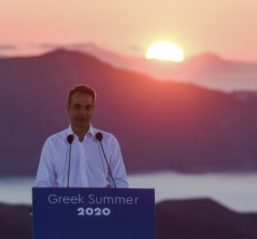 Σαντορίνη: Με θέα την Καλντέρα & το ηλιοβασίλεμα, ο Κυριάκος Μητσοτάκης άνοιξε στον πλανήτη τις πύλες του ελληνικού τουρισμού (Φωτό & Βίντεο)   - Κυρίως Φωτογραφία - Gallery - Video